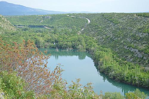 Manojlovac falls overlook