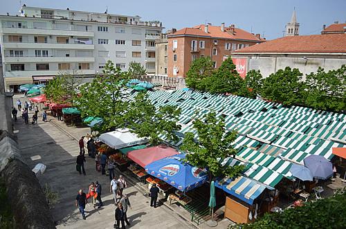 Zadar street market