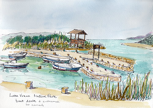 My sketch of the boat dock