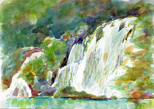 Roški slap - the big falls