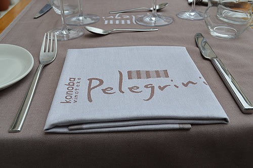 Pelegrini table setting