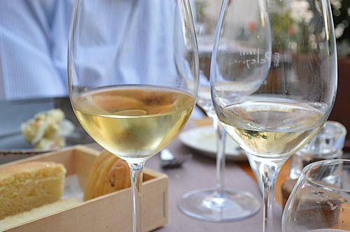 A glass of Rak Maraština