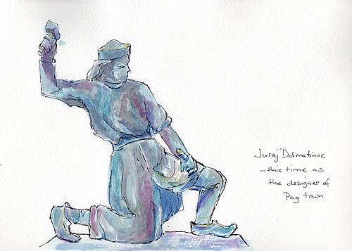 Sketch - Juraj Dalmatinac statue