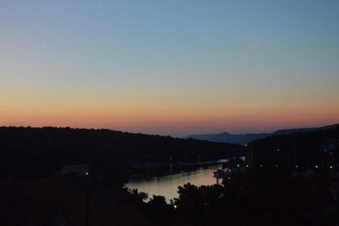 Sunrise with Venus towards the top left