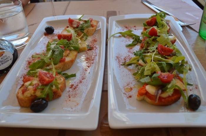 Bruschetta to share