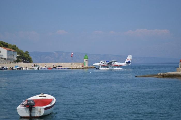Seaplane arrives
