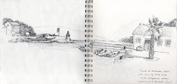 Sketch of Jelsa harbour