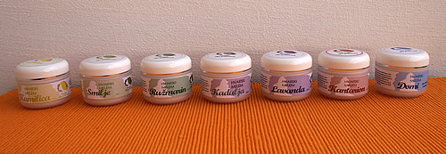Range of creams