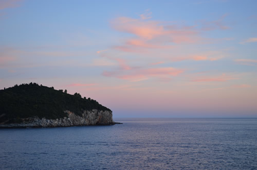 Sunset from Dubrovnik walls