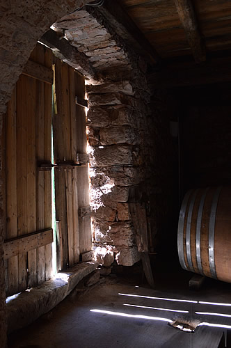 Door to the barrel room