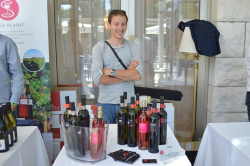 Nikola Birin showing his latest wines