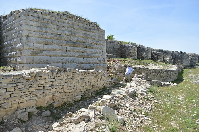 Walls with figure for scale
