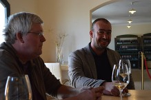 Frank Dietrich of Blue Danube Wine and Alen Bibich