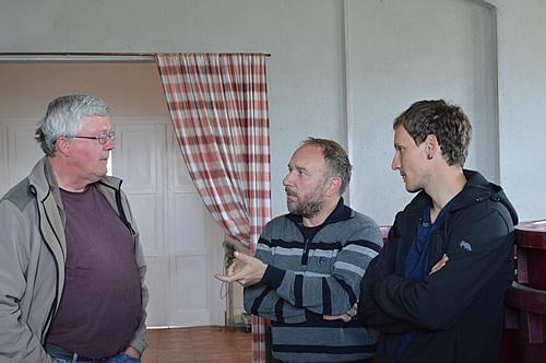 Frank Dietrich of Blue Danube Wine with winemakers Leo Gracin and Nikola