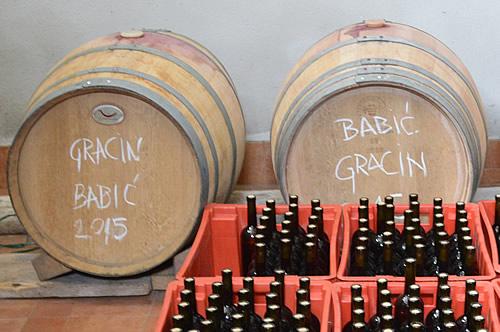 Gracin Babić in the barrel