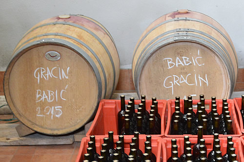Gracin Babić in the barrel