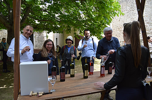 Blue Danube team enjoy the wines with Alan Mandić