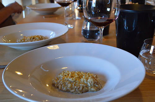 More Shiraz with golden risotto