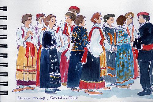 Sketch - Skradin dancers