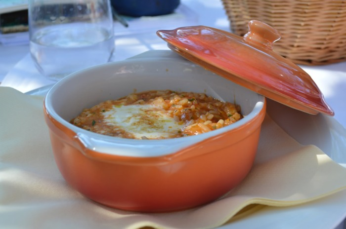 Smoked seafood risotto