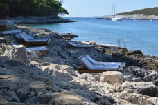 Loungers on the beach