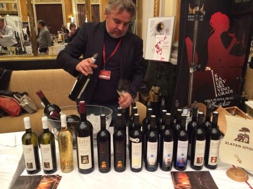 Pouring Plenković wines