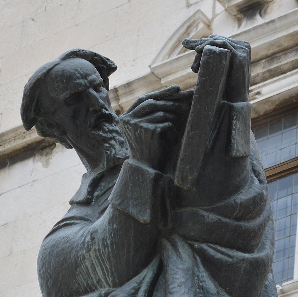 Marko Marulić statue by Ivan Meštrović