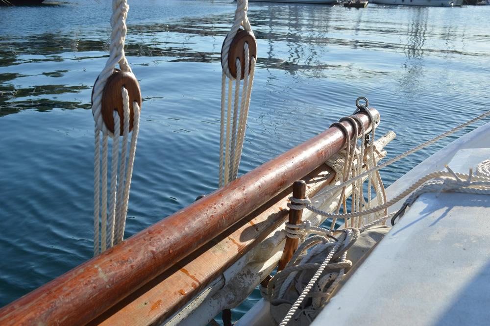 Sail stowed away