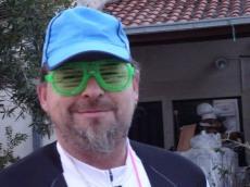 Green flashing glasses