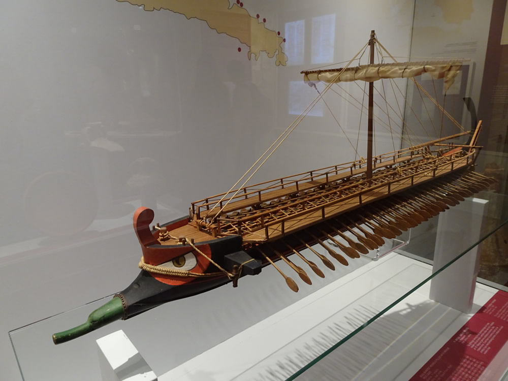 Ancient Greek trireme galley