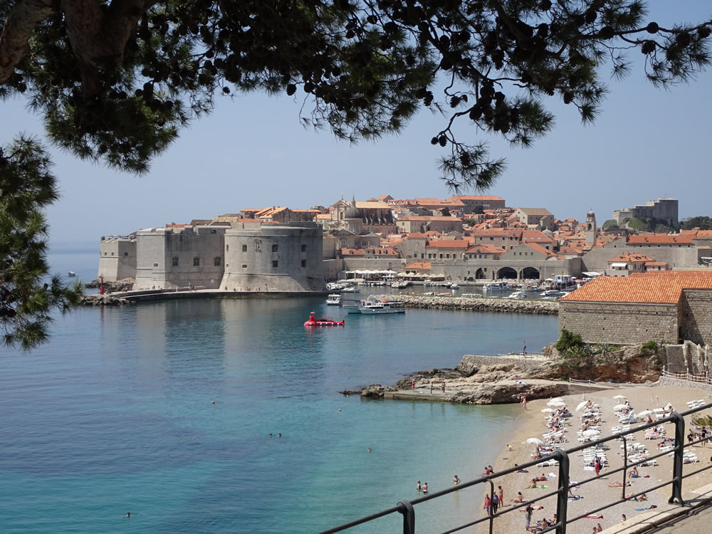 Classic view of the old town harbour