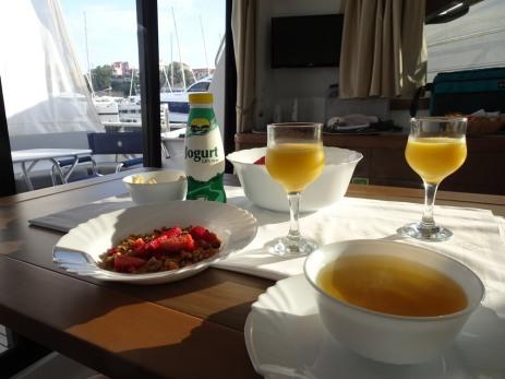 Breakfast onboard