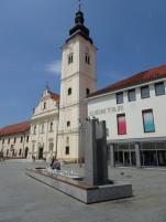 Church and fountain