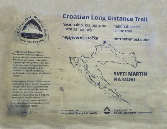 Croatia Long Distance Trail map