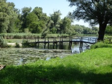 Footbridge to fishing docks