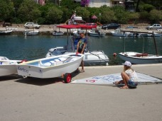 Preparing the boats