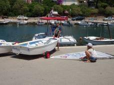 Preparing the boats