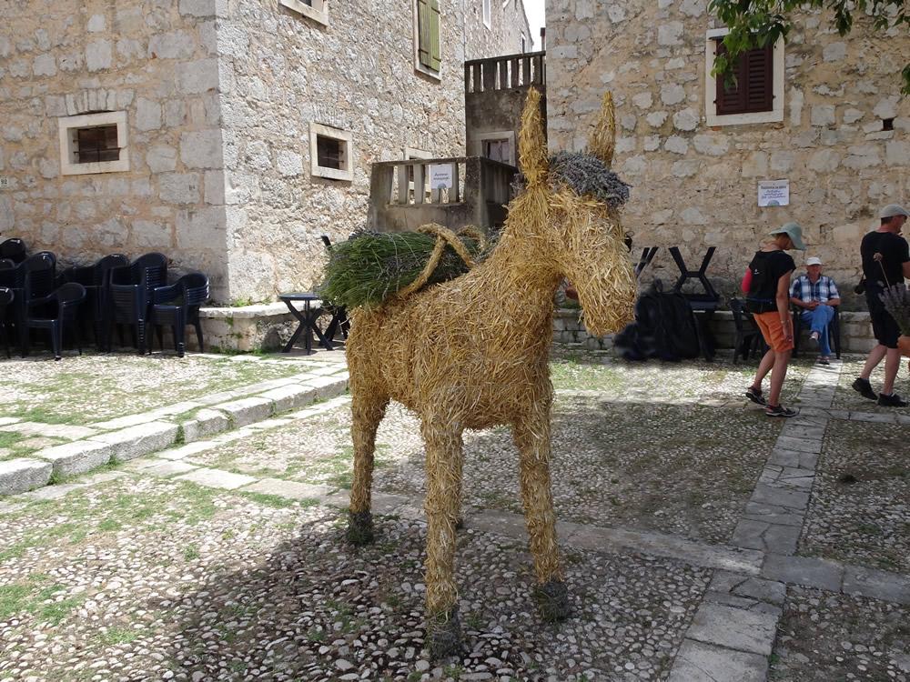 Straw donkey