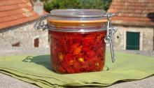 Jar of sun-roast tomatoes