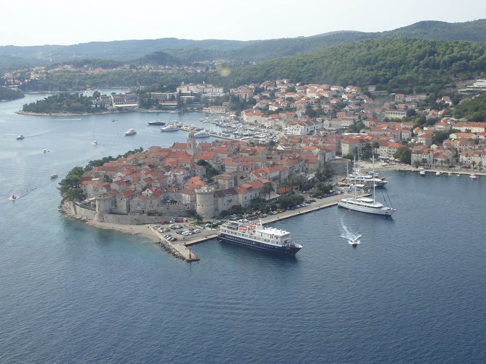 Approaching Korčula