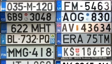 Country number plates