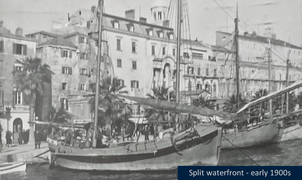 Split waterfront, early 1900s