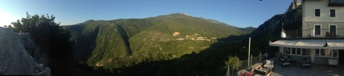 Mt Učka from Draga di Lovrana