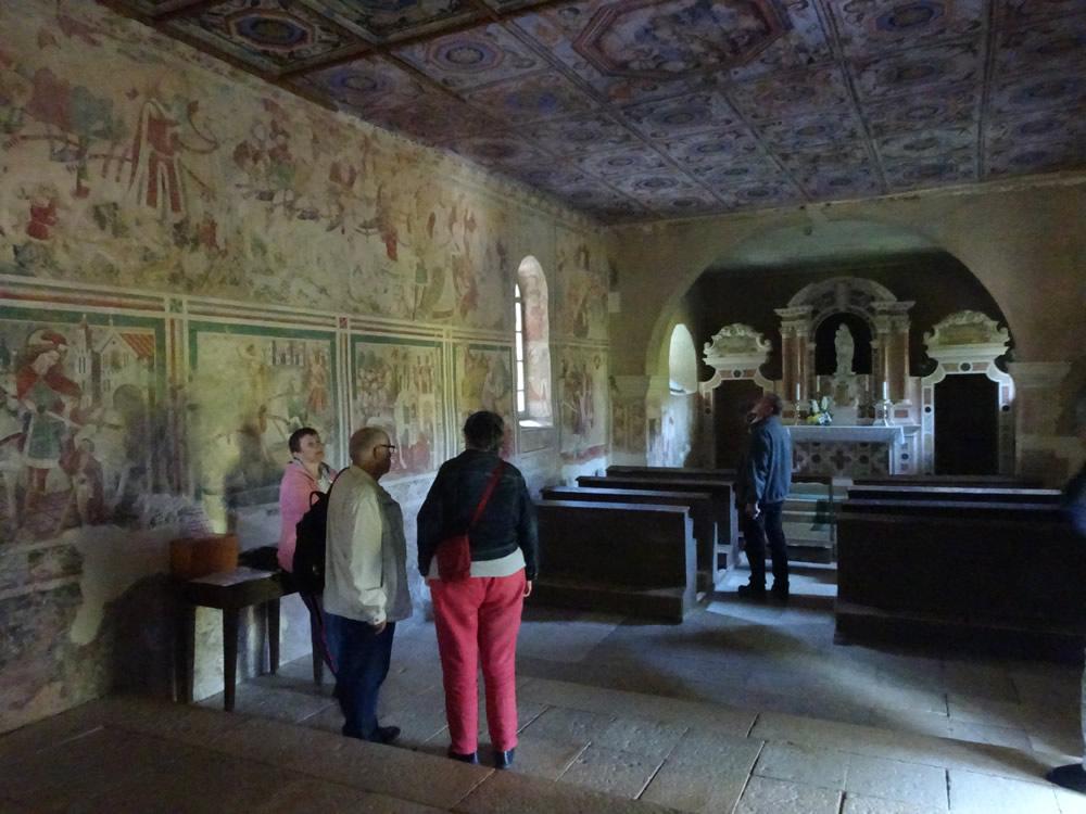 Covered in frescoes