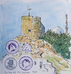 """I climbed Mt Učka"" stamps"