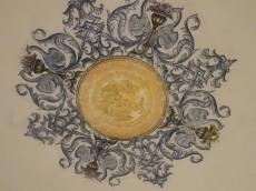 Repainted ceiling rose