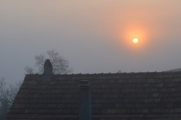 Sunrise over the roofs