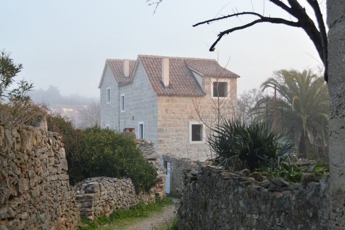Stone house under renovation