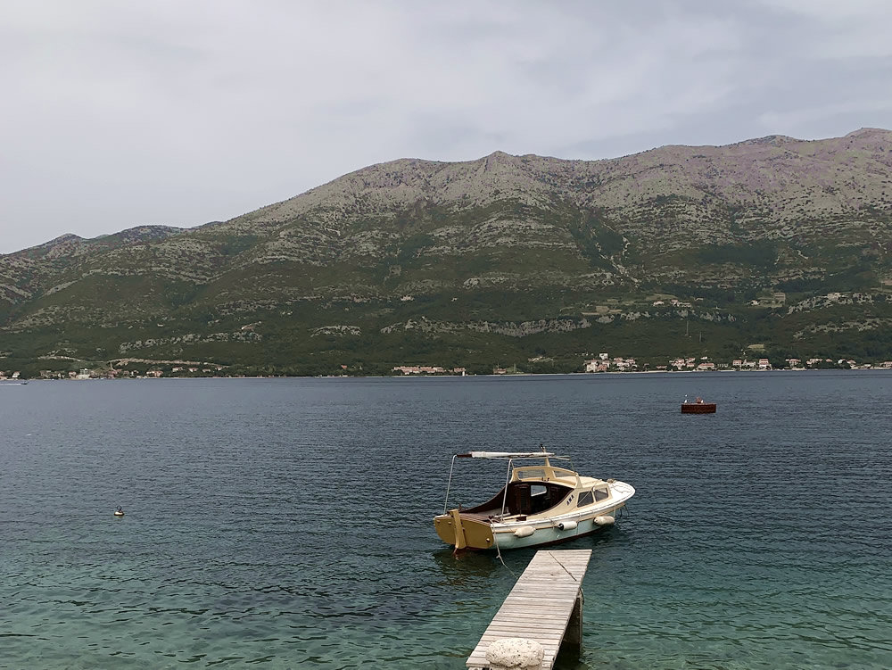 Looking towards Pelješac