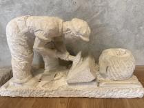 Sculpture of a stonemason by Ivan Jujević Knez